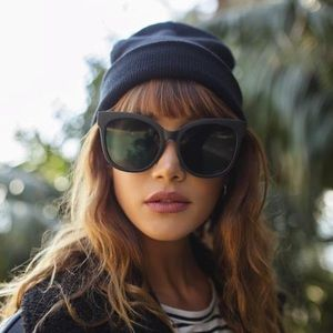 Quay Australia Its My Way Cat Eye Sunglasses Black